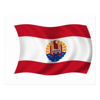 Bandera de Polinesia francesa Tarjetas Postales