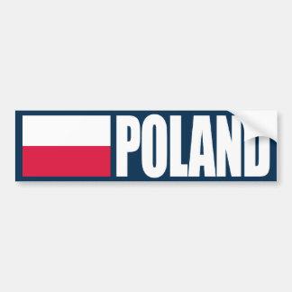 Bandera de Polonia Pegatina Para Auto
