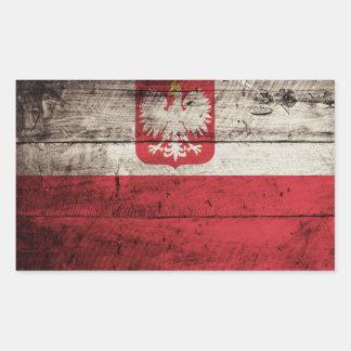 Bandera de Polonia en grano de madera viejo Rectangular Altavoces