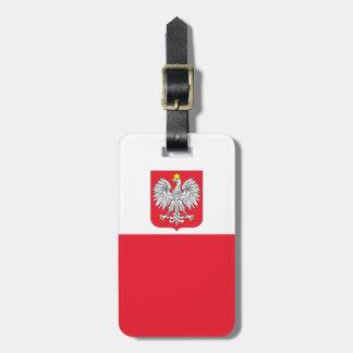 Bandera de Polonia Etiquetas Para Equipaje