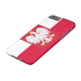 Bandera de Polonia Funda Para iPhone 6 Barely There