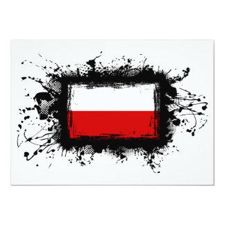 """Bandera de Polonia Invitación 5"""" X 7"""""""
