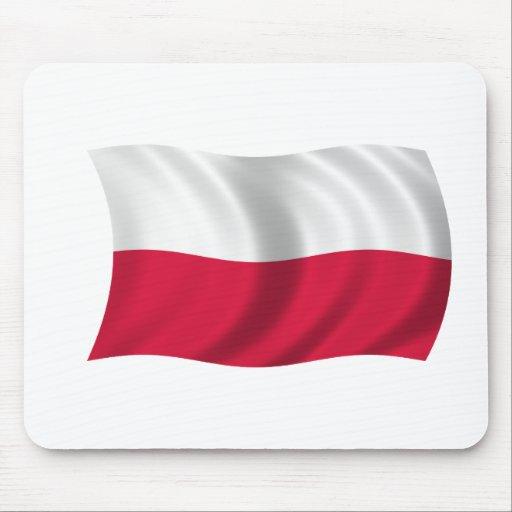 Bandera de Polonia Mousepads