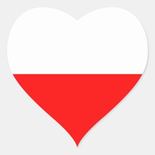 Bandera de Polonia Colcomanias De Corazon Personalizadas