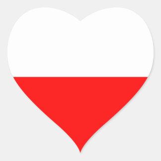 Bandera de Polonia Pegatina En Forma De Corazón