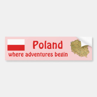 Bandera de Polonia + Pegatina para el parachoques  Pegatina Para Auto