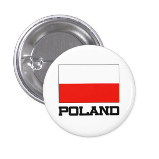 Bandera de Polonia Pin Redondo De 1 Pulgada