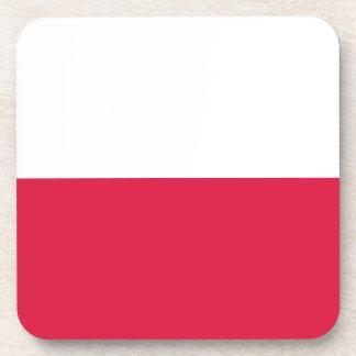 Bandera de Polonia Posavasos De Bebida