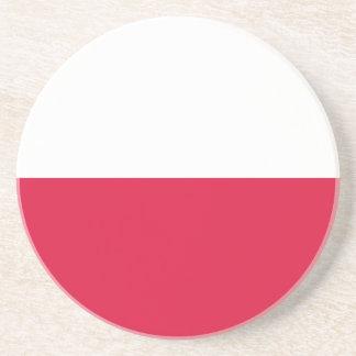 Bandera de Polonia Posavasos Diseño