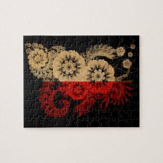 Bandera de Polonia Puzzle Con Fotos