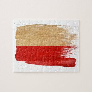 Bandera de Polonia Rompecabeza