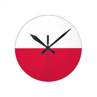 Bandera de Polonia Relojes De Pared