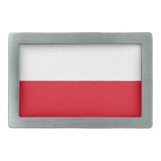 Bandera de Polonian Hebillas De Cinturón Rectangulares