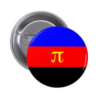 Bandera de Polyamory -- Color del pi 3 Pin Redondo 5 Cm