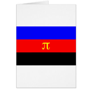 Bandera de Polyamory -- Color del pi 3 Tarjeta De Felicitación