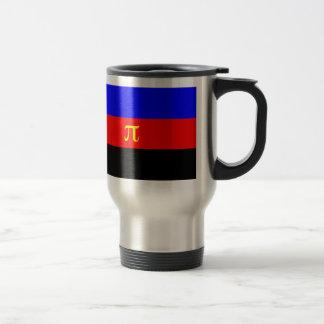Bandera de Polyamory -- Color del pi 3 Taza De Viaje
