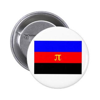 Bandera de Polyamory Pin Redondo 5 Cm