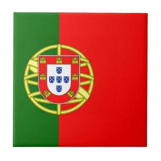 Bandera de Portugal Azulejo Cuadrado Pequeño