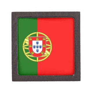 Bandera de Portugal Cajas De Recuerdo De Calidad