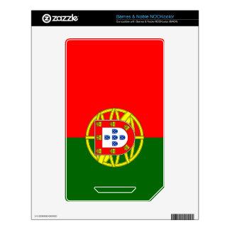 Bandera de Portugal Calcomanía Para El NOOK Color