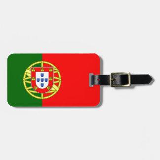 Bandera de Portugal Etiqueta De Maleta