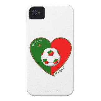 Bandera de PORTUGAL FÚTBOL de equipo nacional 2014 iPhone 4 Carcasas