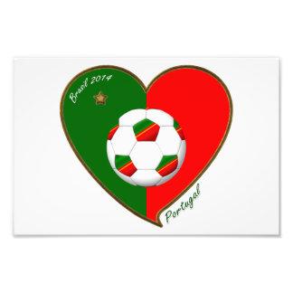 Bandera de PORTUGAL FÚTBOL de equipo nacional 2014 Fotografías