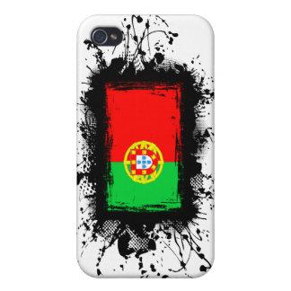 Bandera de Portugal iPhone 4 Fundas