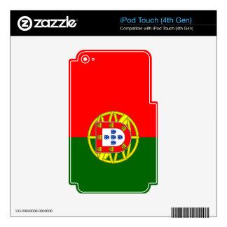 Bandera de Portugal iPod Touch 4G Skins