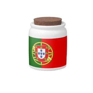 Bandera de Portugal Jarras Para Caramelos
