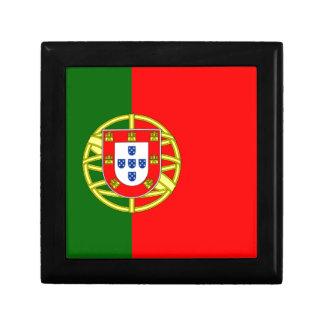 Bandera de Portugal Joyero Cuadrado Pequeño