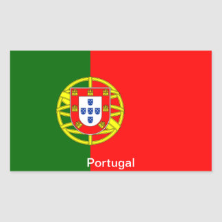 Bandera de Portugal Rectangular Pegatinas