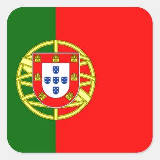 Bandera de Portugal Pegatina Cuadrada