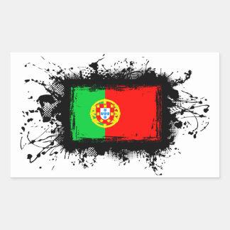 Bandera de Portugal Pegatina Rectangular