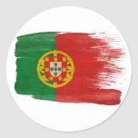 Bandera de Portugal Pegatinas Redondas