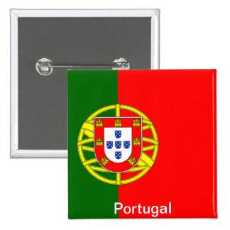 Bandera de Portugal Pin Cuadrada 5 Cm