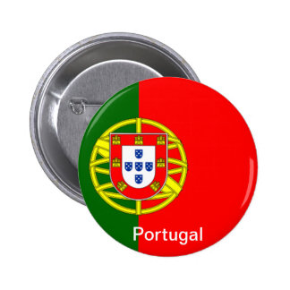 Bandera de Portugal Pin Redondo 5 Cm