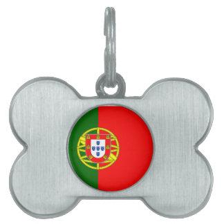 Bandera de Portugal Placas De Nombre De Mascota