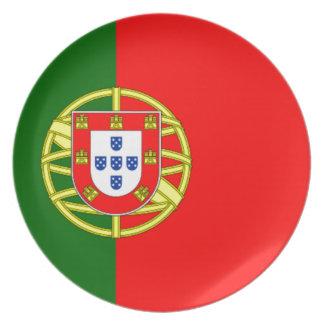 Bandera de Portugal Plato De Cena