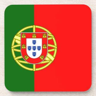 Bandera de Portugal Posavasos De Bebidas