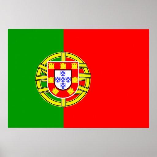 Bandera de Portugal Póster