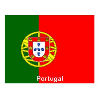 Bandera de Portugal Tarjeta Postal