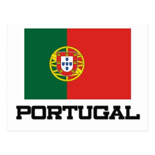 Bandera de Portugal Tarjetas Postales