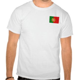 Bandera de Portugal y camiseta del mapa