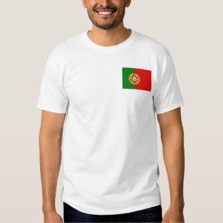 Bandera de Portugal y camiseta del mapa Playera