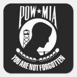 Bandera de POW-MIA Pegatinas Cuadradas