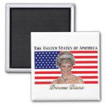 Bandera de princesa Diana los E.E.U.U. Imán De Frigorifico