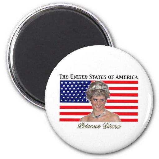 Bandera de princesa Diana los E.E.U.U. Imán Para Frigorífico