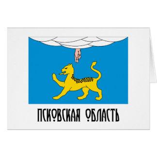 Bandera de Pskov Oblast Felicitacion