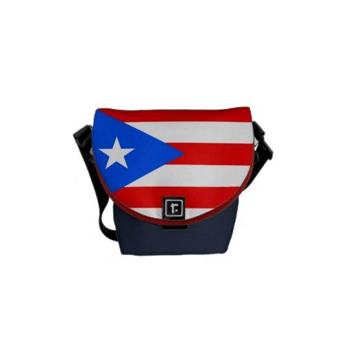 Bandera de Puerto Rico Bolsas De Mensajería